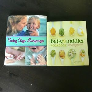 Other - 2 Books Baby Sign Language | Baby&Toddler Cookbook
